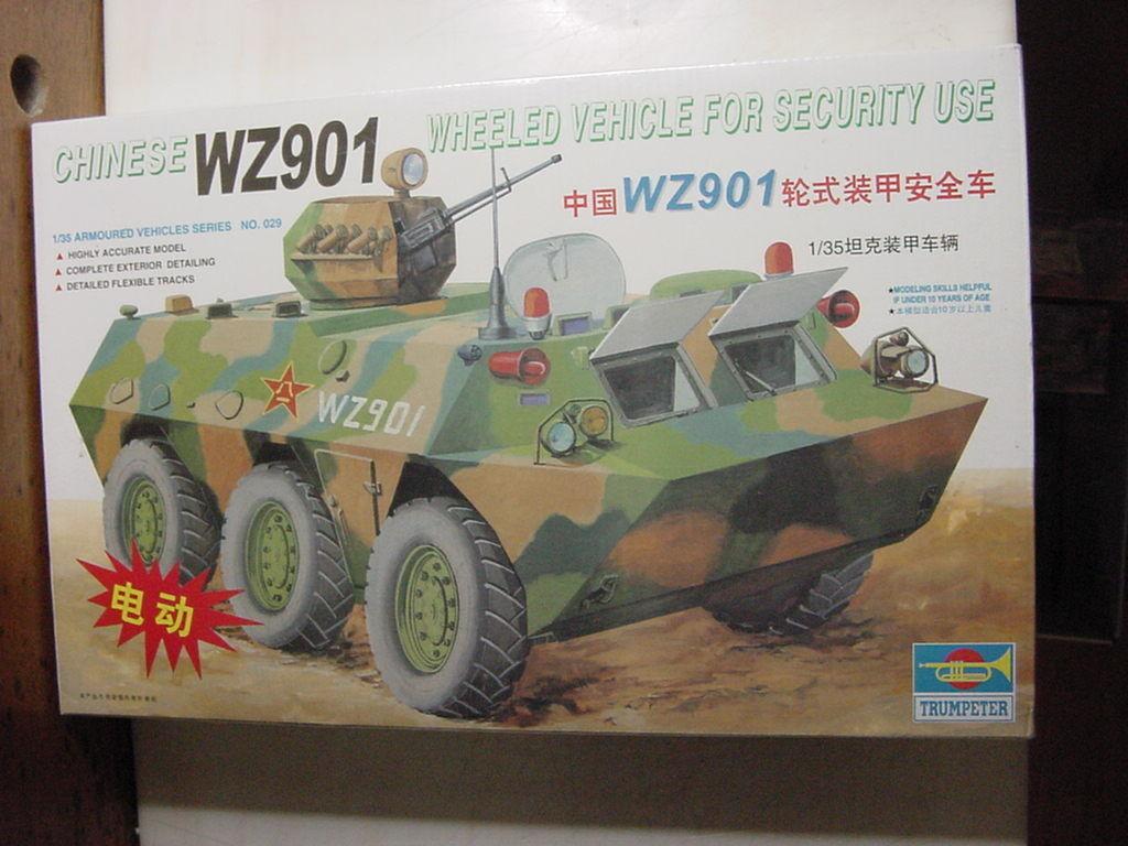 Trumpeter Chinese WZ901 Wheeled Vehicle Kit-1:35-NIB-Factory