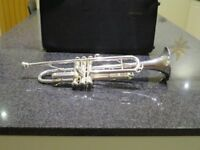 Besson 1000 Silver trumpet . In Very good condition and comes with a case .