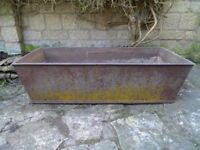 160yr old cast iron Gibbons of Wantage 4ft iron trough/planter