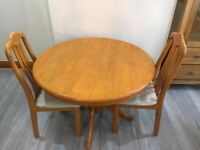 Wooden Family Dining Table+ 2 Chairs