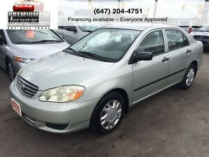 2003 Toyota Corolla Like New! Mint!