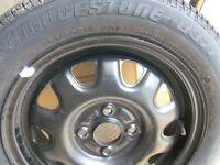 Bridgestone tyre B371 165/60R14 75T + Unused spare tyre + rim from a suzuki wagon R boot