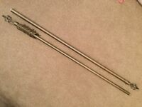 Brushed Chrome Extendable Curtain Pole 120 - 210cm