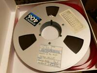 "Ampex 406 1"", reel to reel tapes"