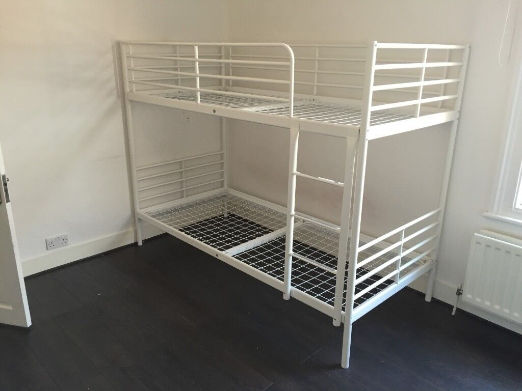 ikea tromso white metal bunk bed frame ikea svarta in willesden green london gumtree. Black Bedroom Furniture Sets. Home Design Ideas