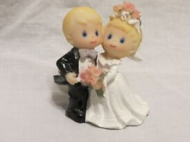 Wedding Cake Topper of Bride and Groom