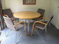 Maskreys dining table with 4 matching chairs