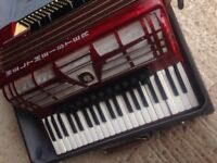 Beautiful Weltmeister 120 bass accordion for sale