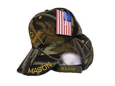 Lot Of 2 Freemason Mason Camo Embroidered Hat Mason Masonic Lodge Camouflage Cap