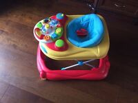 Play and Go 2 in 1 Activity Walker - Red by Toys Are Us
