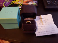 Tiffany & Co Infinity Ring 18k Rose Gold & Silver Size 9 With Receipt