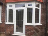 Double glazed bay window plus door and separate bay window