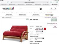 Kyoto double red futon/ sofabed