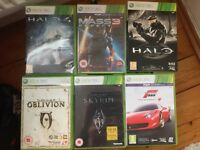 Xbox 360 (250GB) with 6 games