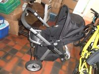 Icandy apple 3 wheel jogger pushchair (newer model renamed Peach all terrain) from birth. adaptable