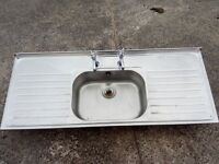 Double drainer sink and taps.