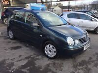 Volkswagen Polo 1.2 E 5dr,2003 (52 reg), new driver cheap insurance package,10 MONTHS MOT,LADY OWNER