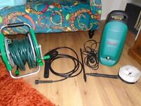 Bosch Aquatec Pressure Washer and Garden Reel Hose