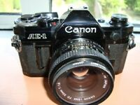 Canon AE1 35mm Film Camera with Prime 50 Lens