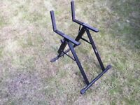 Guitar amplifier stand.... great for home, live or studio use.