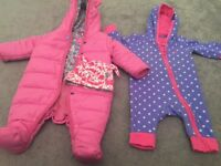 Joules 0-3 outer baby grow,baby grow and hat