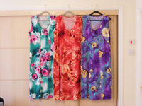 3x Michele Hope summer dresses size 14/16. Worn probably once each.