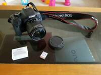 Canon 600d with lense and 32g SD card