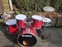 Drum kit with matts