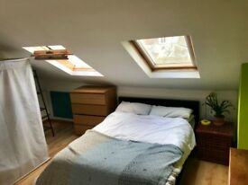 Large Attic Double Bedroom in spacious home
