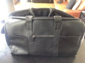 Luxury Leather black weekender hold all