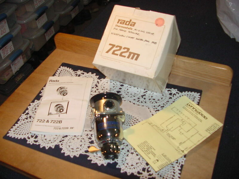 Rada 722M Thermostatic Mixing Valve Chrome Finish, 1/2 NPT Fitting NEW IN BOX!