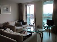 Double bed room with stunning view on Thames, luxury development