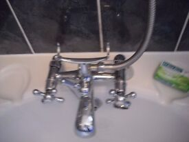 sink taps and bath taps with shower attatchments