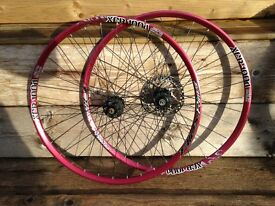 "DT Swiss XCR 100d - 26"" mid level MTB wheel set - Red - REDUCED"