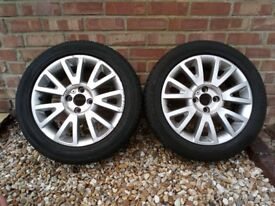 renault clio mk3 canasta 16inch alloys and tires and centre caps X2 £100