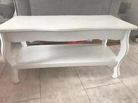 Shabby chic upcyle white table