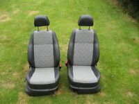 front seats from vw caddy 12 plate