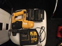 DeWalt DC223 SDS 24v Drill c/w 2 x Batteries, Charger, , Depth perfect working order been light use