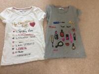 Girls T-shirts age 8yrs