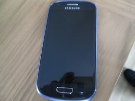 samsung s3 blue mini good condition