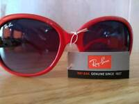 Ray Ban sunglasses, red/white
