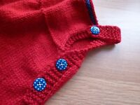 Hand Knitted Baby Rompers
