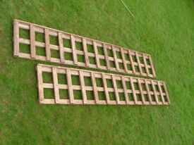 Fencing decorative tops, 6'x1' with capping trellis panels
