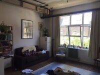 Bright and airy huge double bedroom in a great London Fields warehouse flat