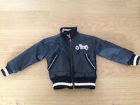 Rare black motorbike 'Retro Rider' jacket- 2 years, great design
