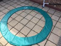10ft GREEN TRAMPOLINE PADDING FROM SMYTHS