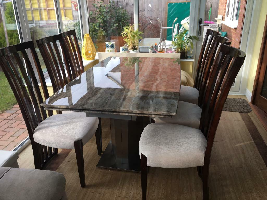 Furniture Village Long Island Dining Table And 6 Chairs