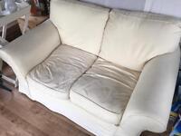 Two Seater Sofa - Cream