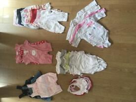 0-3 girls clothes bundle