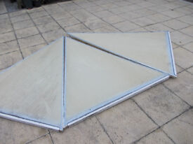 Conservatory roof panels with UPVC roof beams